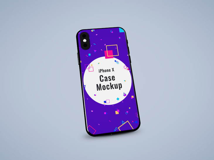 iPhone X Case PSD Mockup