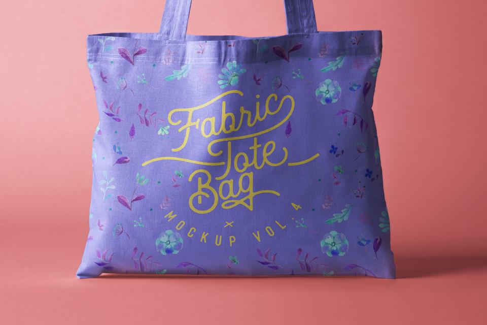Tote Bag Fabric Mockup Psd