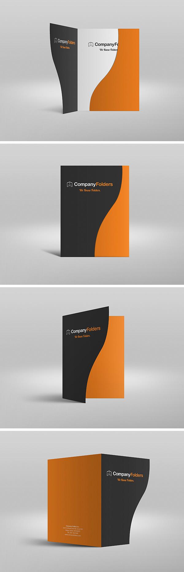 Serpentine Presentation Folder MockUp