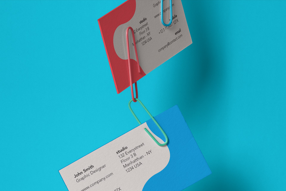 Clipped Psd Business Card Mockup