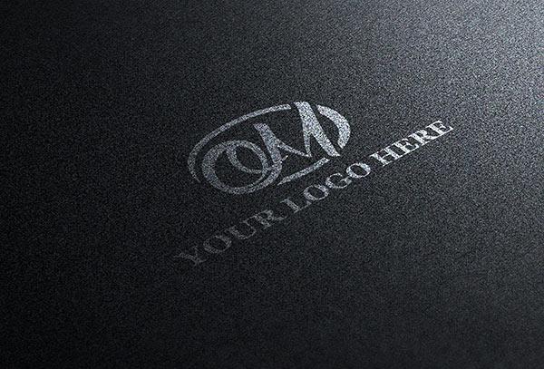 Black Logo PSD MockUp