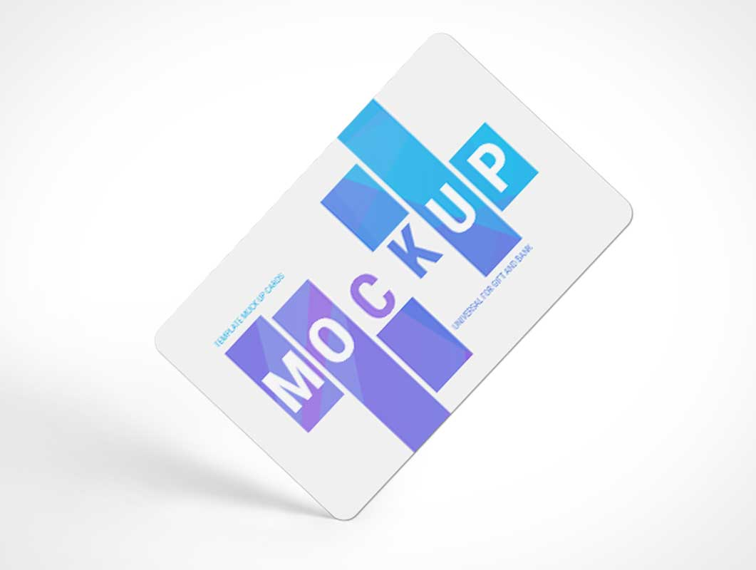 Rounded Transaction Bank Cards PSD Mockup