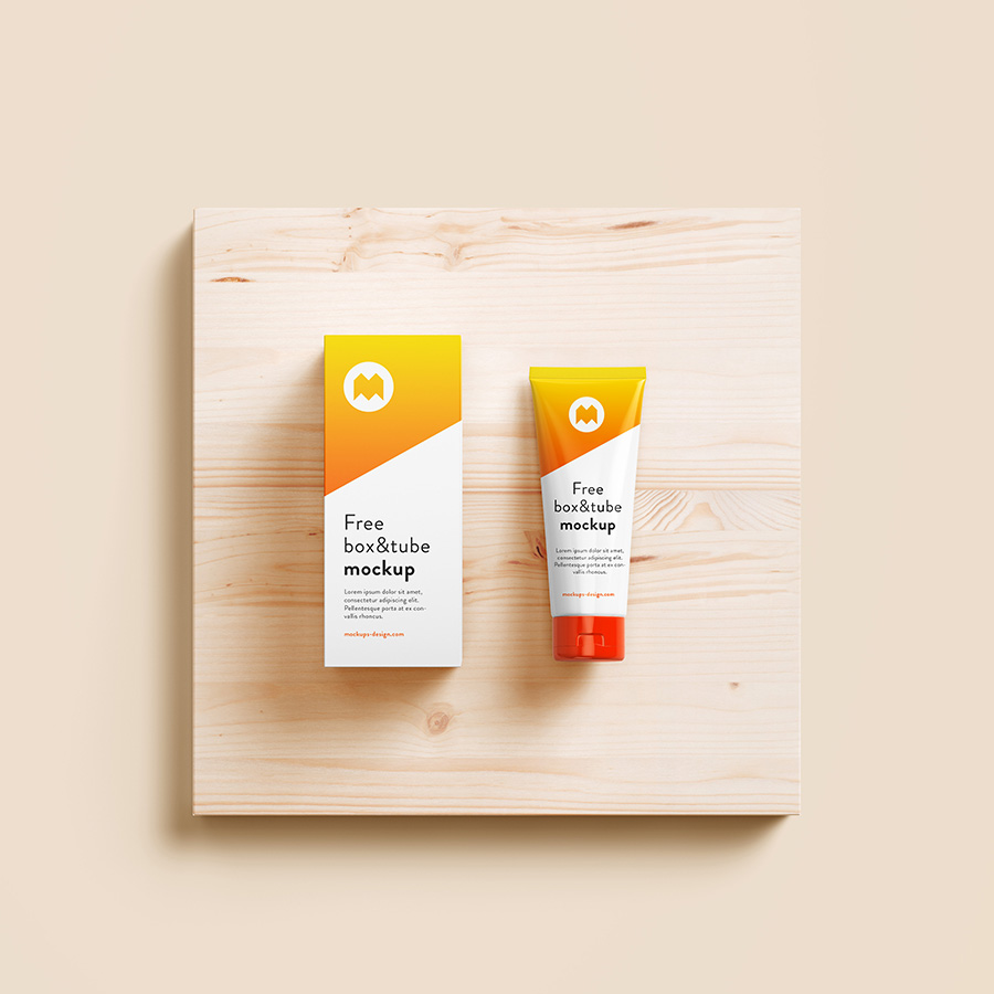 Cosmetics Cream Box Packaging PSD Mockup