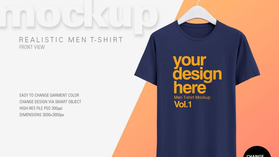 Men T-Shirt Free Mockup