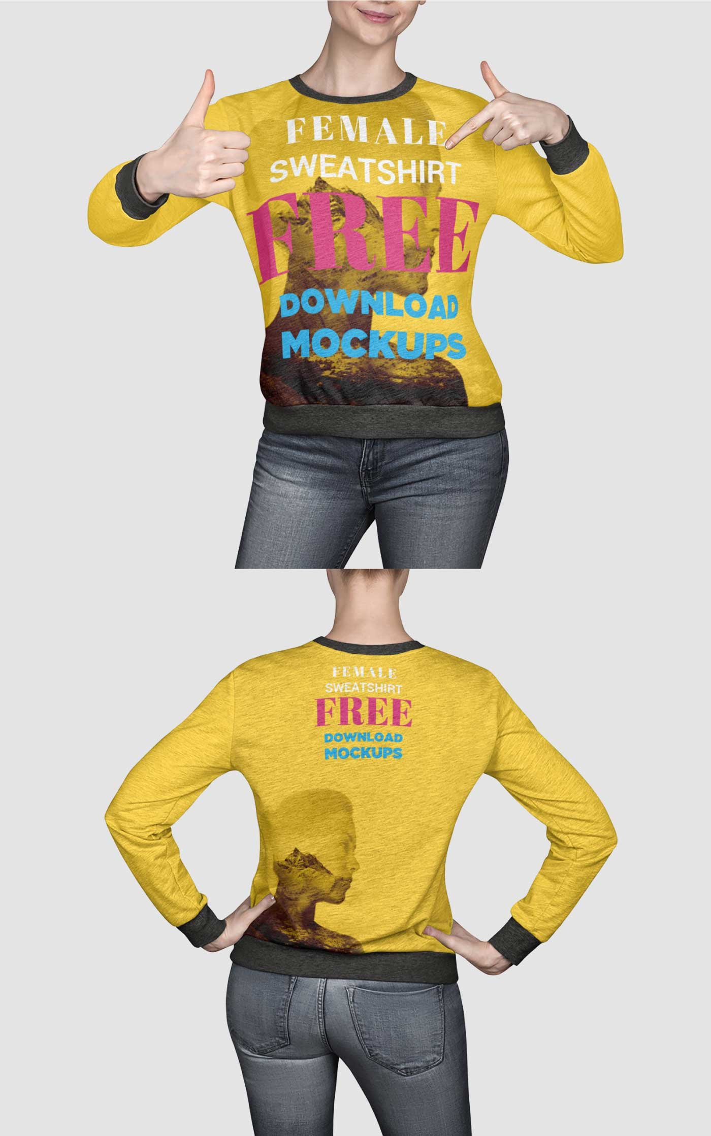 Free Customizable Sweater Mockups