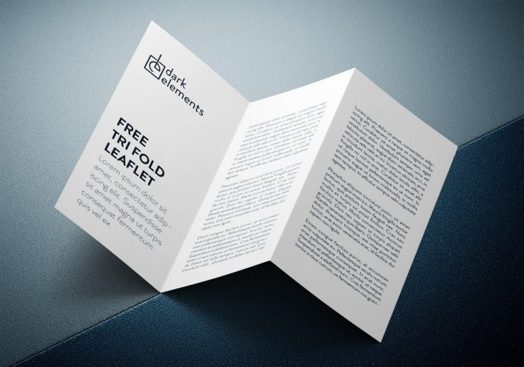 Stylish Tri-Fold Brochure Mockup