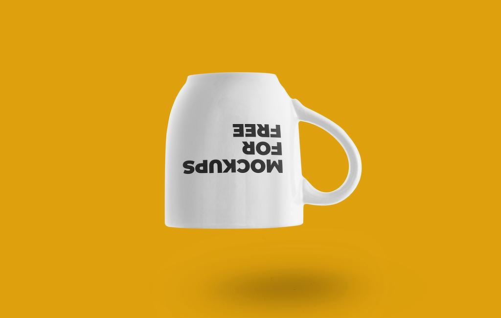 Upside Down Cup Mockup