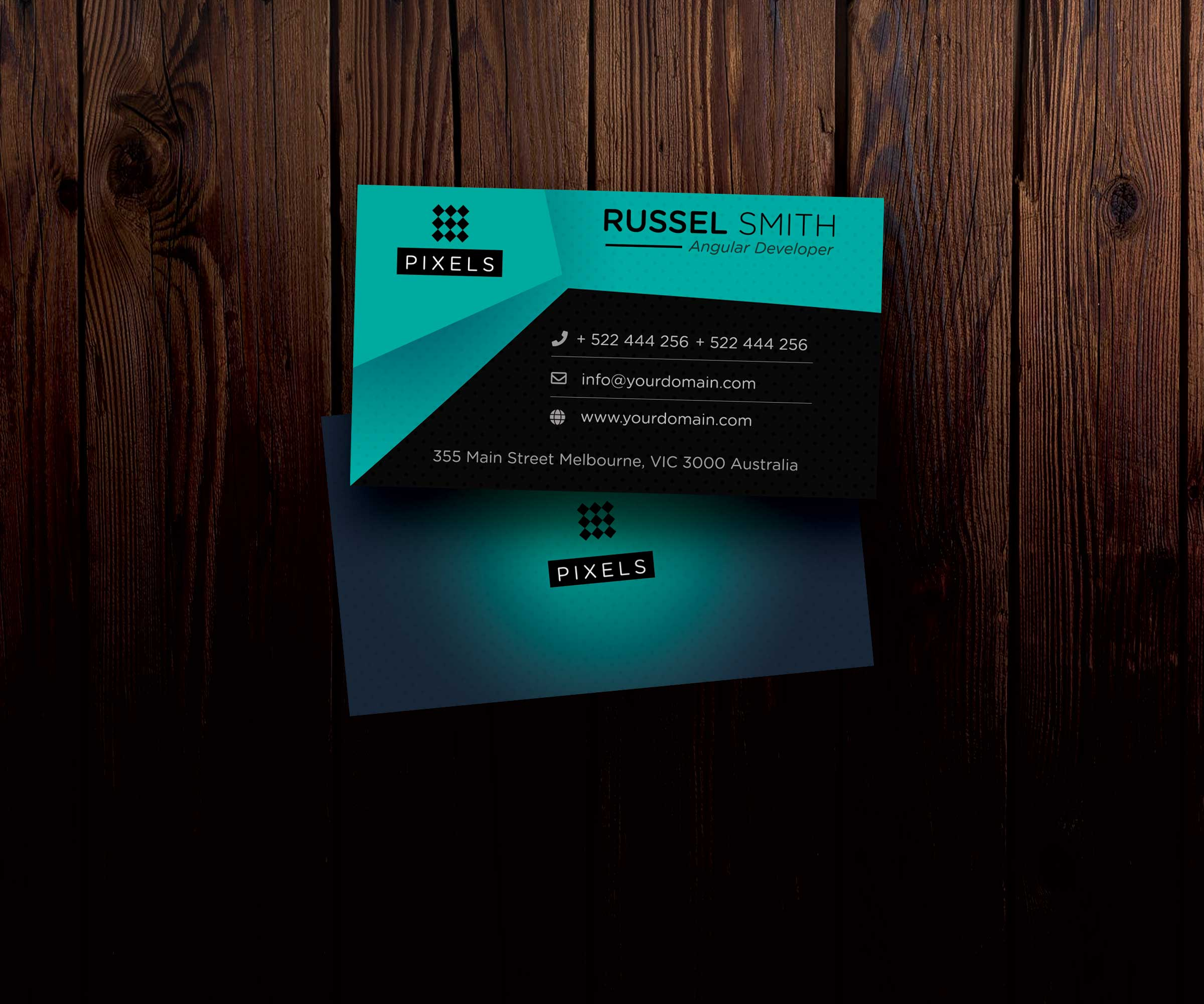 Individual Business Card Psd Mockup