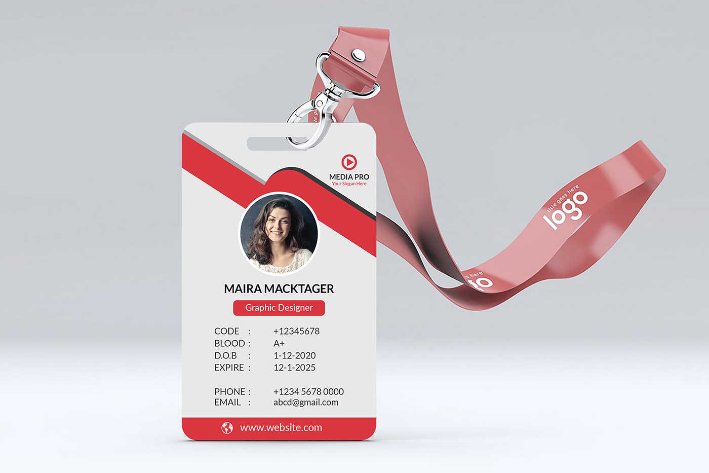 ID Card Design Mockup