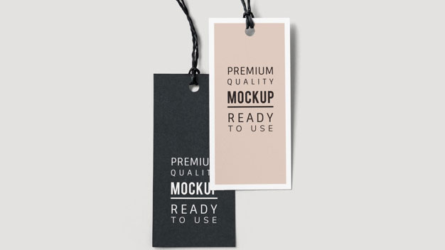 Pair Fashion Label Tag Mockups