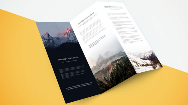 Tri Fold Brochure Showcase Mockup