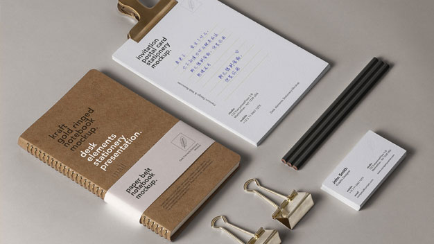 Psd Desk Stationery Mockup
