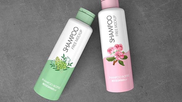 Free Shampoo Bottle PSD MockUps