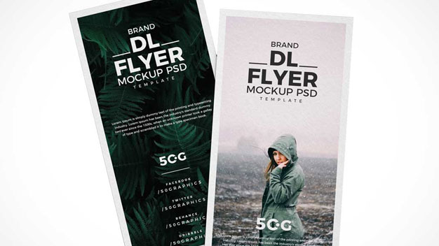 Single Panel Flyers PSD Mockup