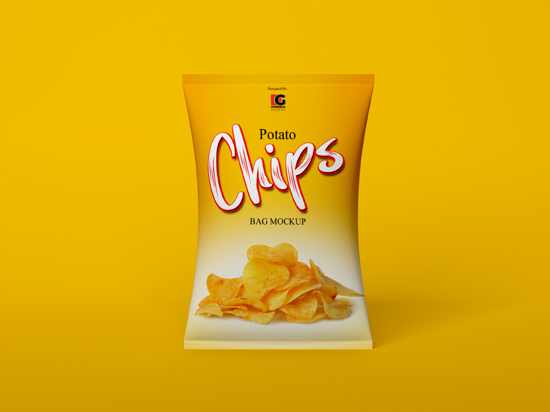 Free Chips Bag Mockup PSD