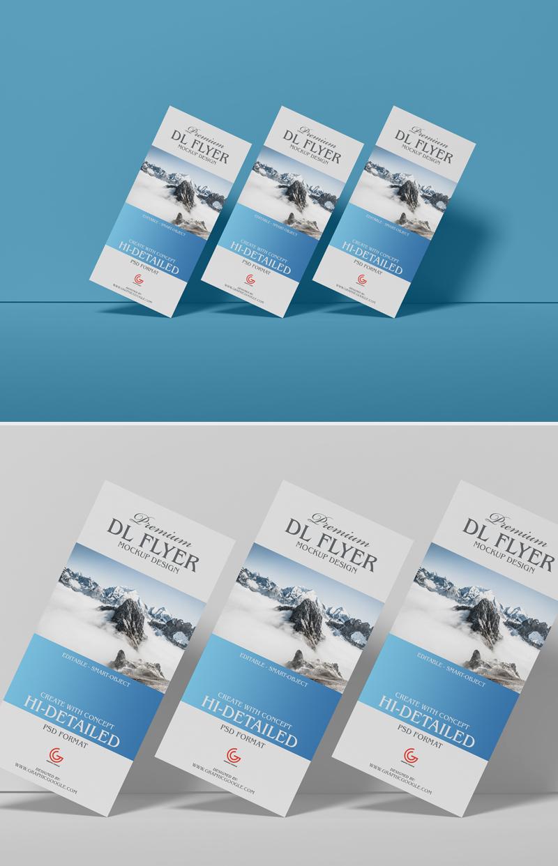 Free Brand Dl PSD Flyer Mockup