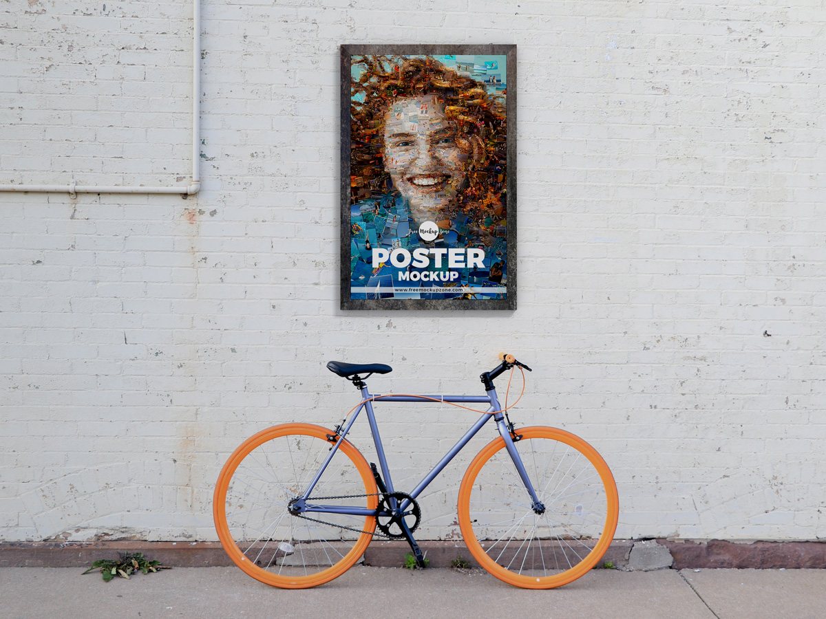 Street Wall Poster Mockup Design