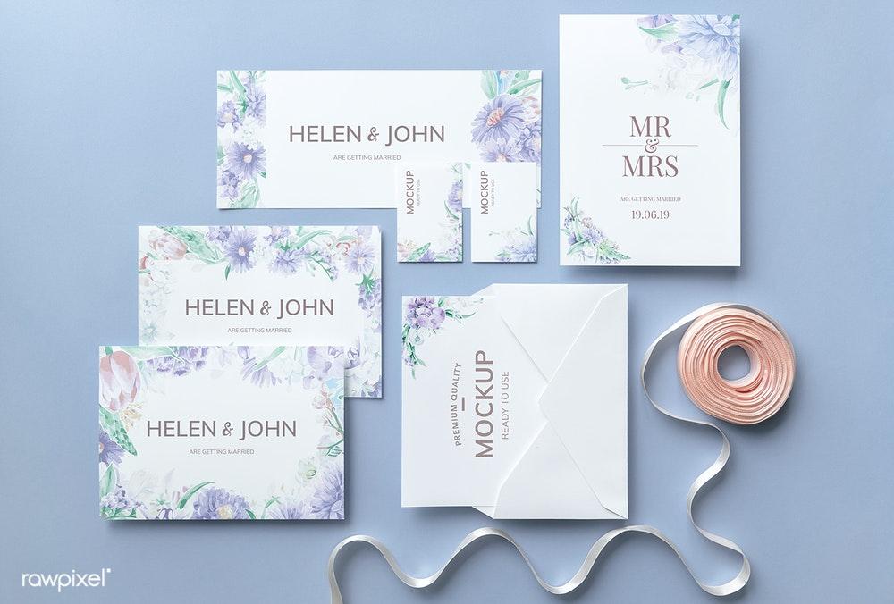 Wedding Invitation Card Mockups