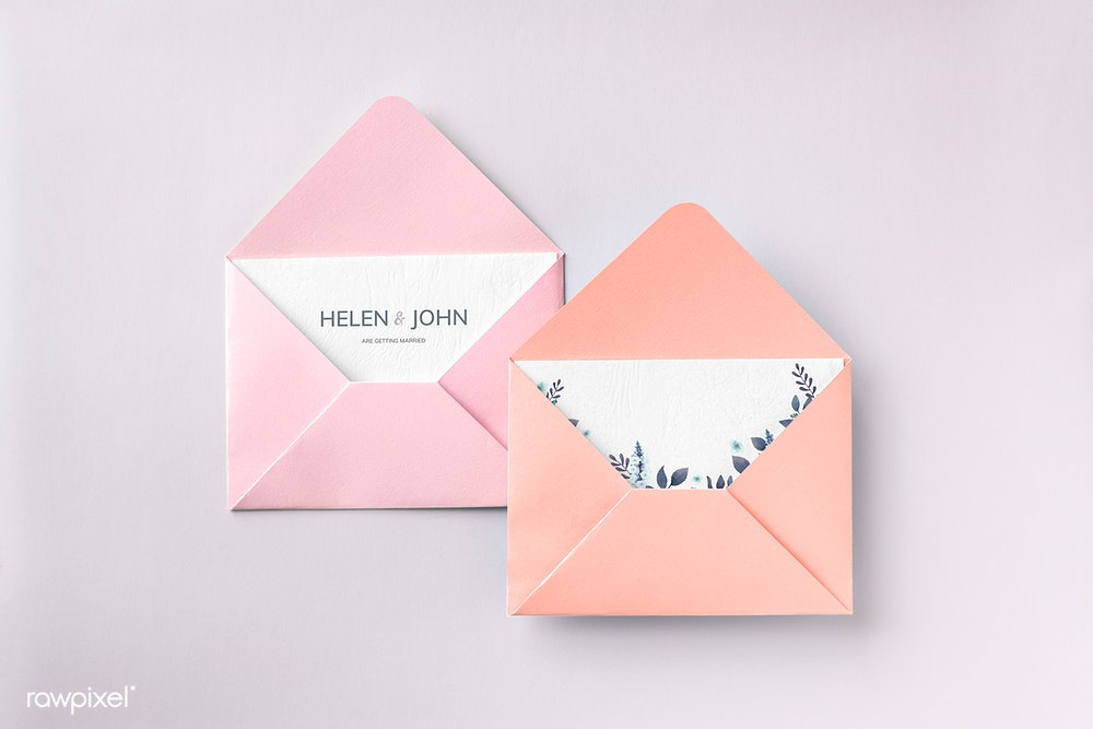 Open Envelope card Mockup