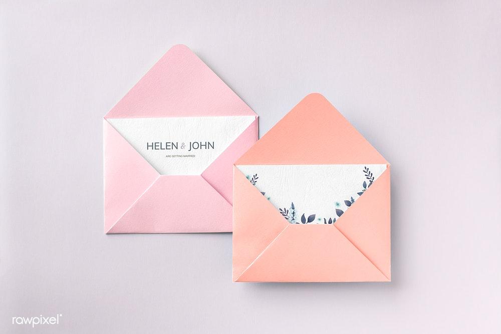 Open Envelope card Mockup