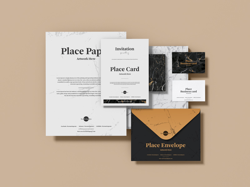 Branding Stationery PSD Mockup Design