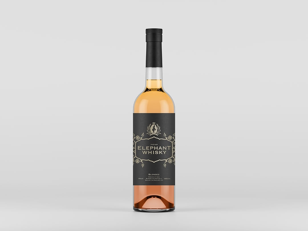 Front View Liquor Bottle Mockup