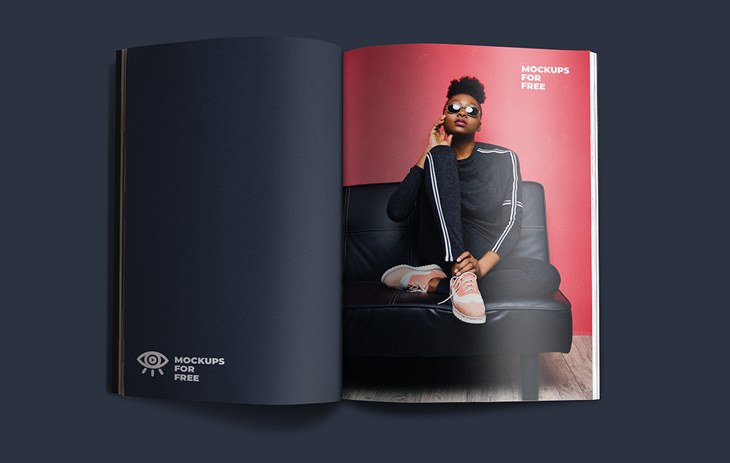 Open Corporate Magazine Mockup PSD