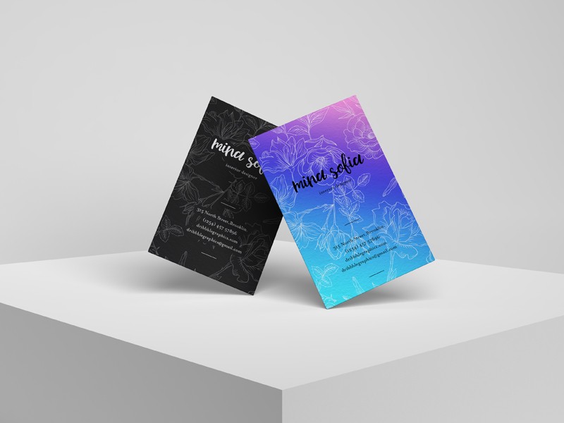 Brand Stylish Business Card Free PSD Mockup