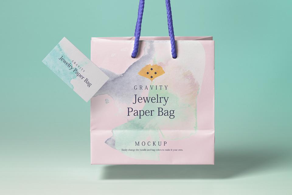 Psd Gravity Shopping Bag Mockup