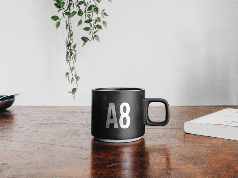 Mug on Table Mockup