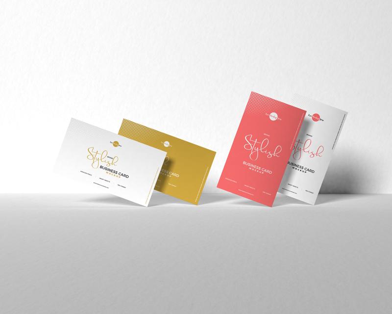 Free Brand Stylish Business Card Mockup