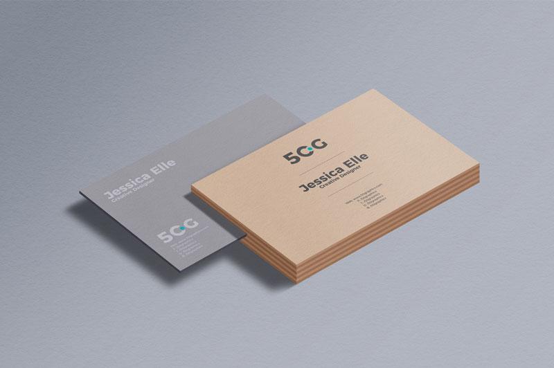 Business Card Branding Mockup PSD