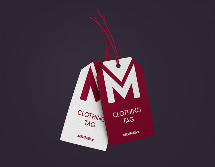 Clothing Tag Free PSD Mockups