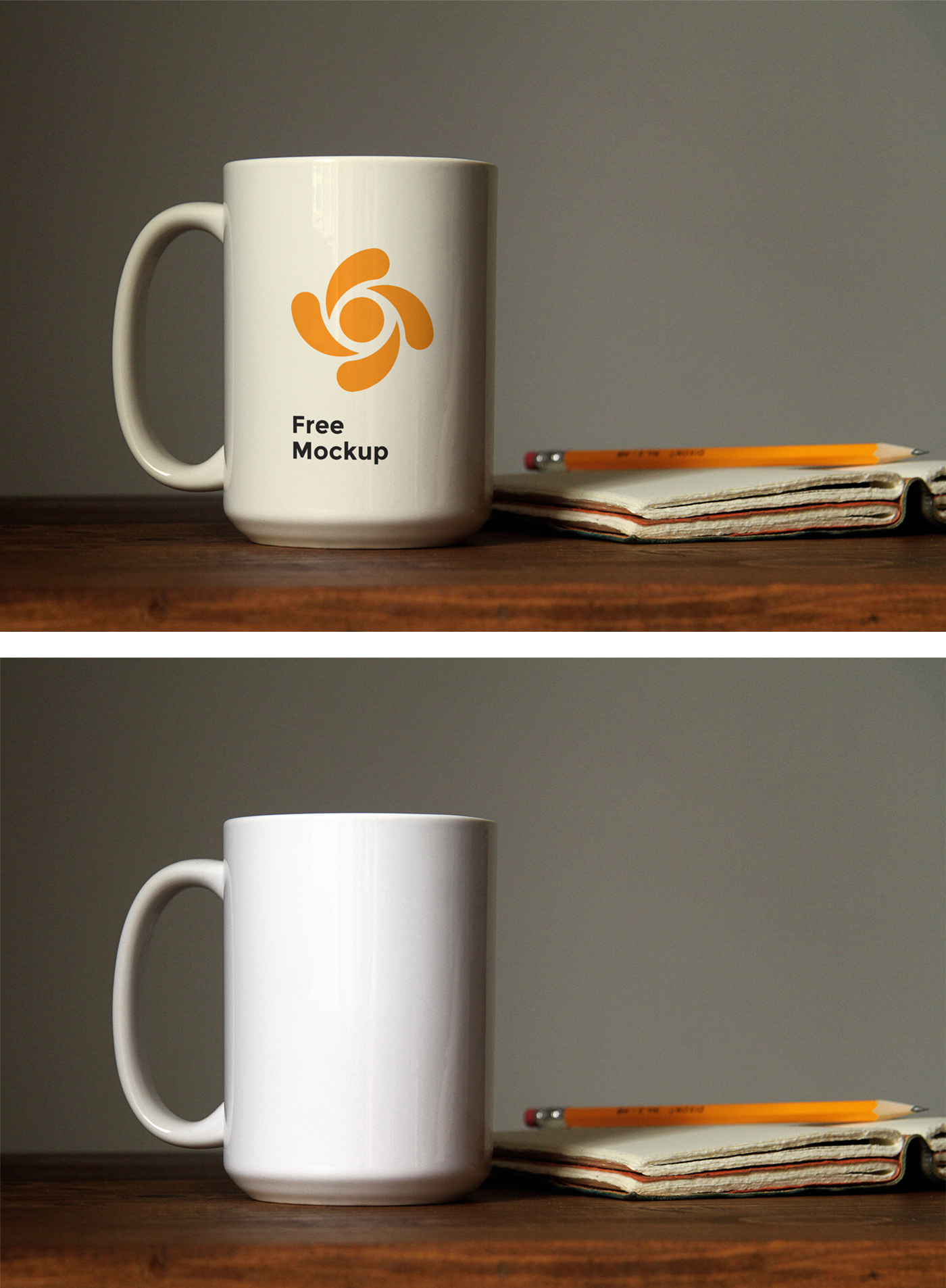 Mug PSD Mockup on Table