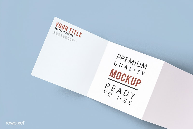 Printed Trifold Brochure Mockup