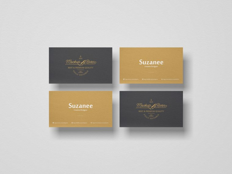 Free Branding Business Card Mockup