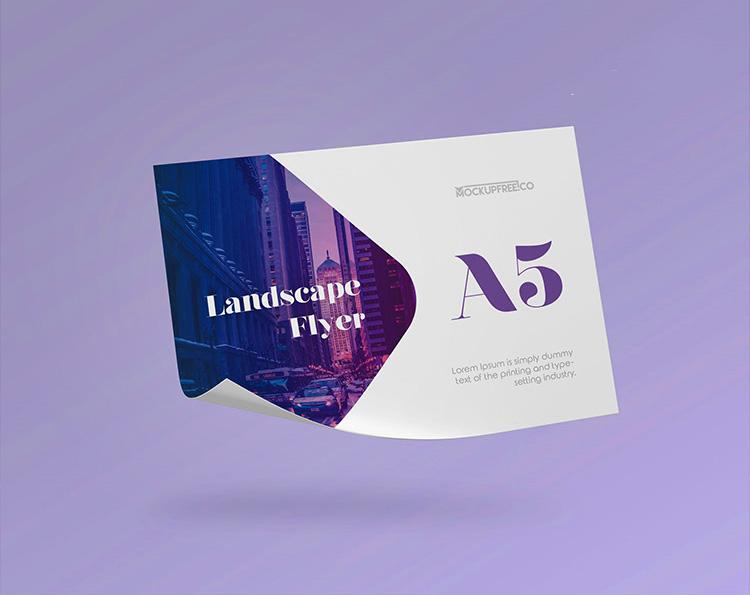 Landscape Flyer Free PSD Mockup