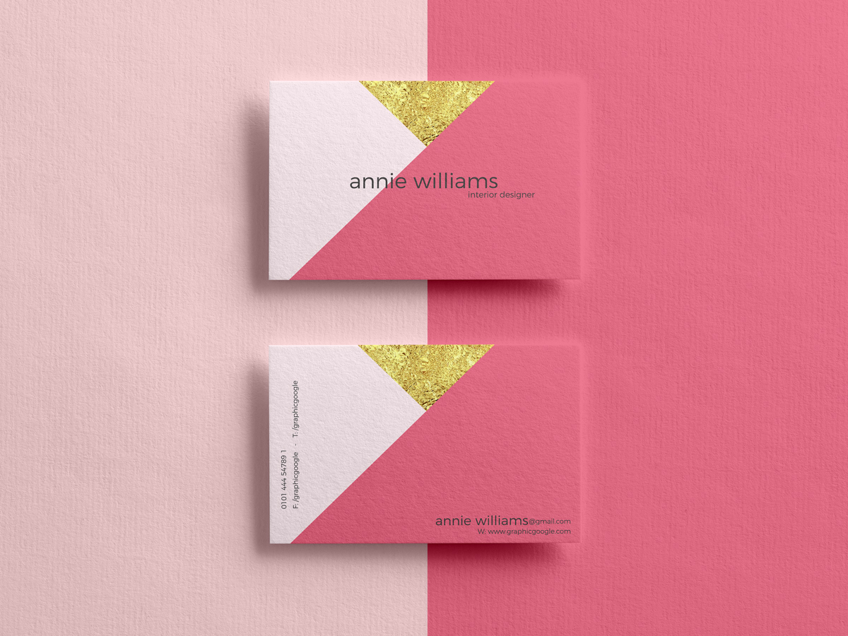 Free Elegant Textured PSD Business Card Mockup