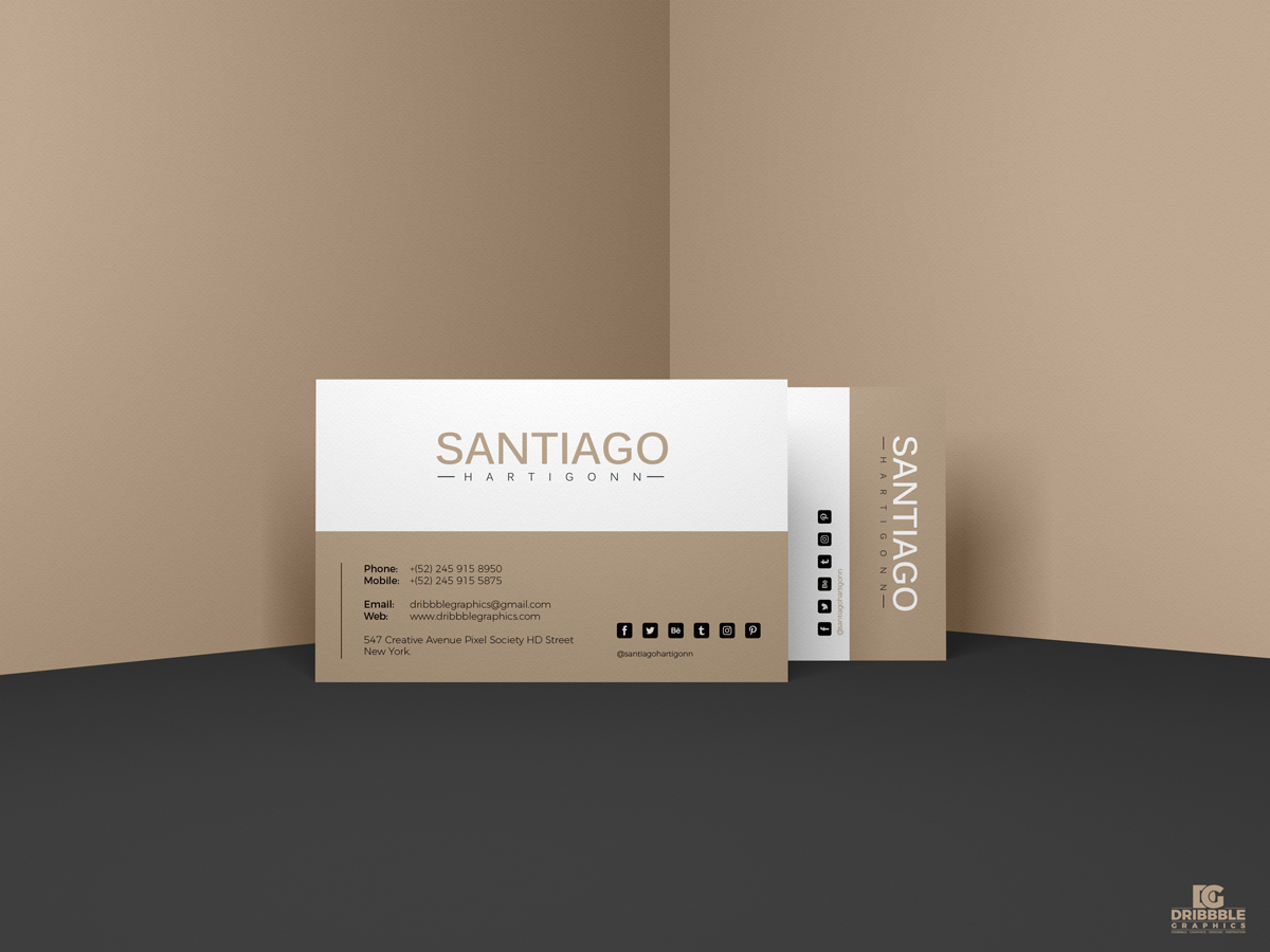 Prime Business Card Mockup PSD