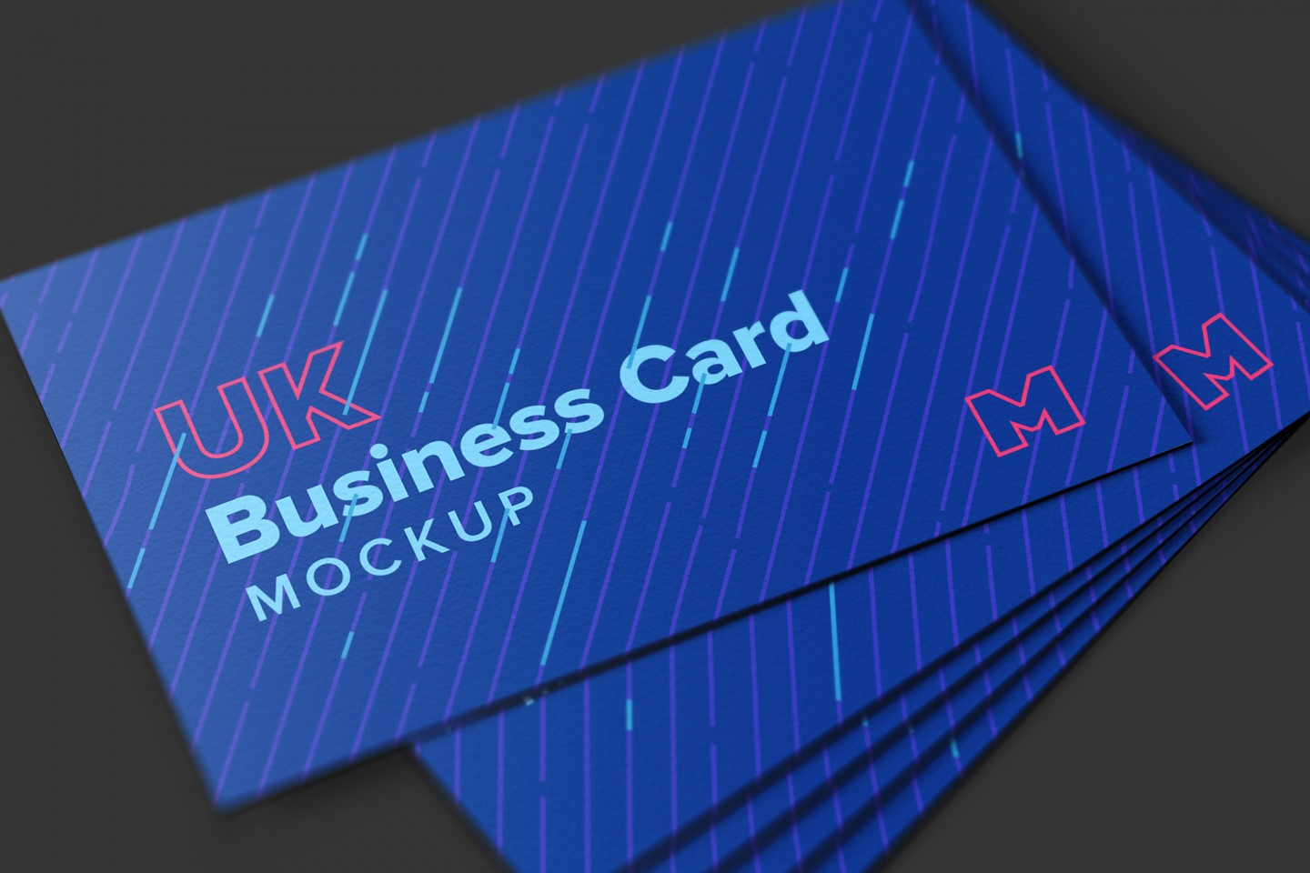 UK Business Cards Mockup