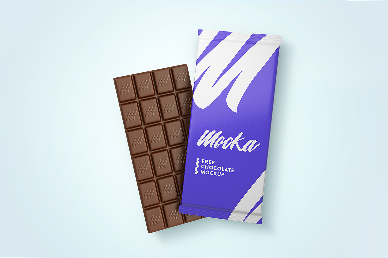 Chocolate Mockup Free PSD