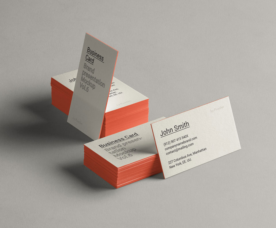 Free Beautiful Business Card Mockup