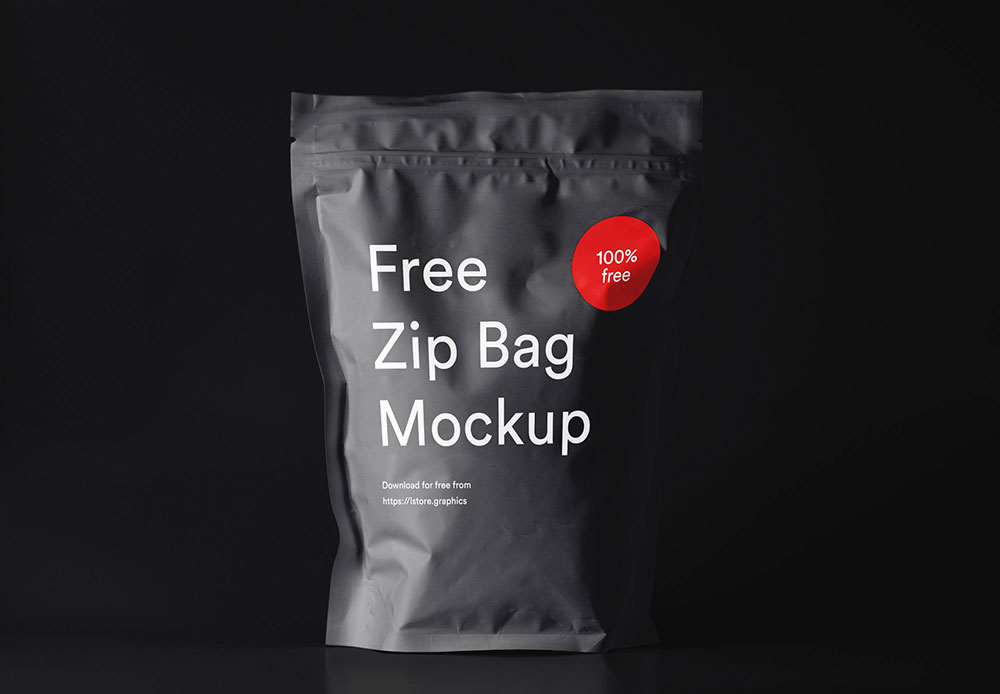 Free Zip Pouch Mockup