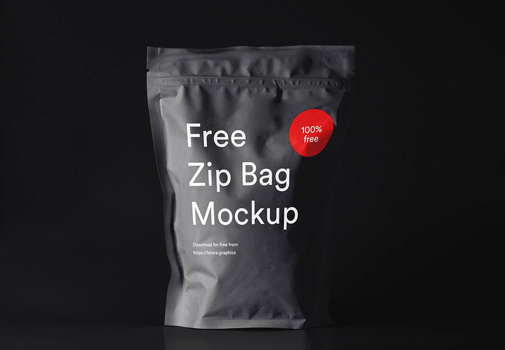 Free Zip Pouch Mockup