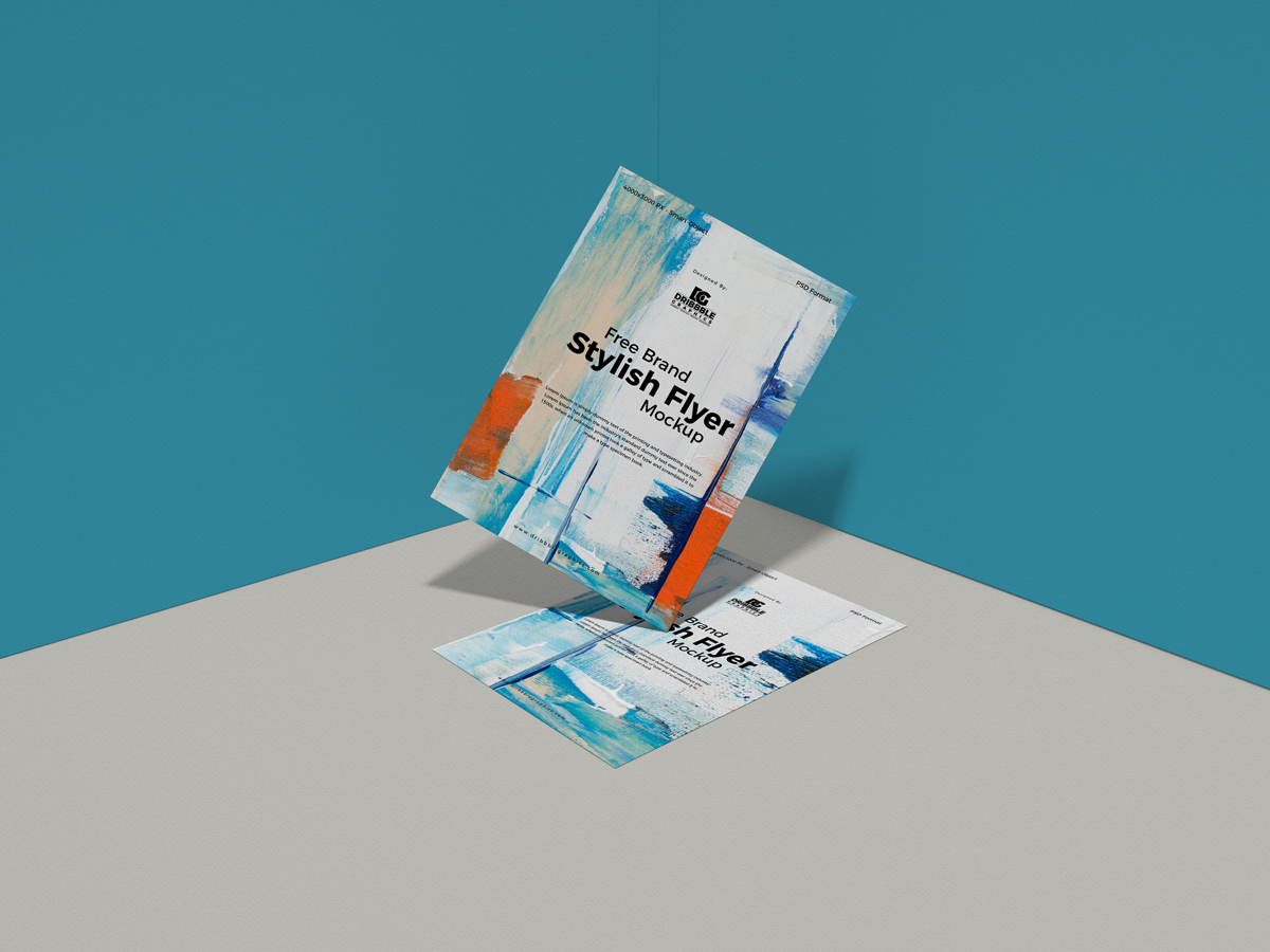 Free Brand Stylish Flyer Mockup Design