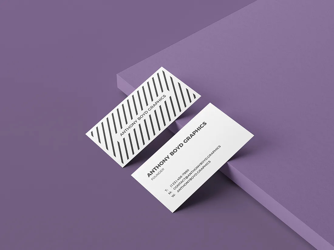 Texture Graphics Business Card Mockup