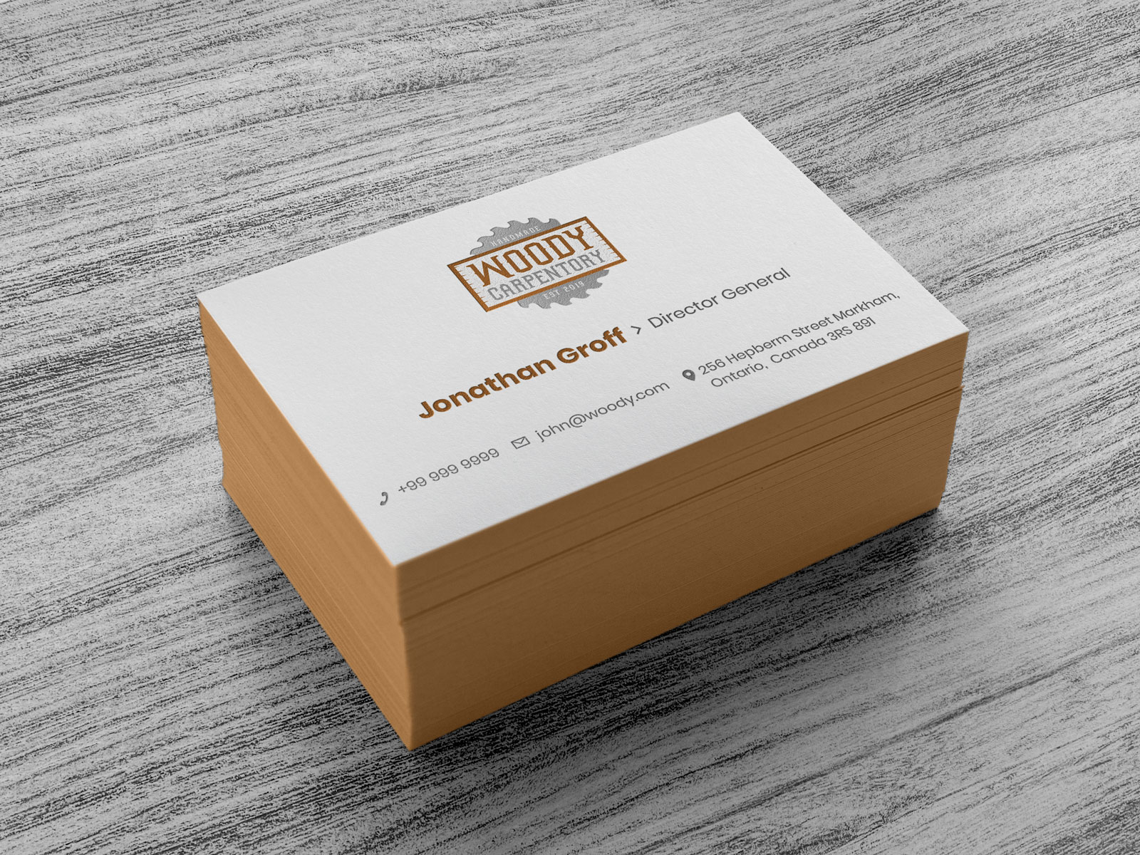 Business Card Logo Design  Mockup PSD