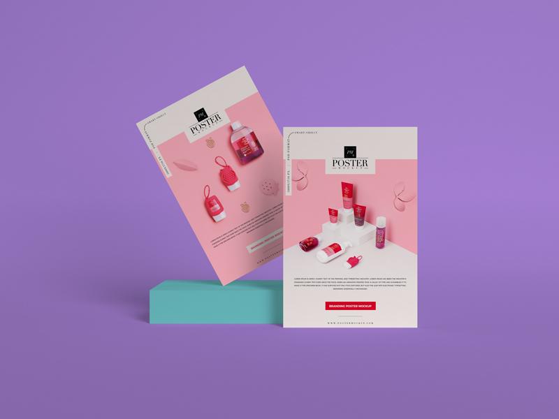 Branding PSD Poster Mockup Design