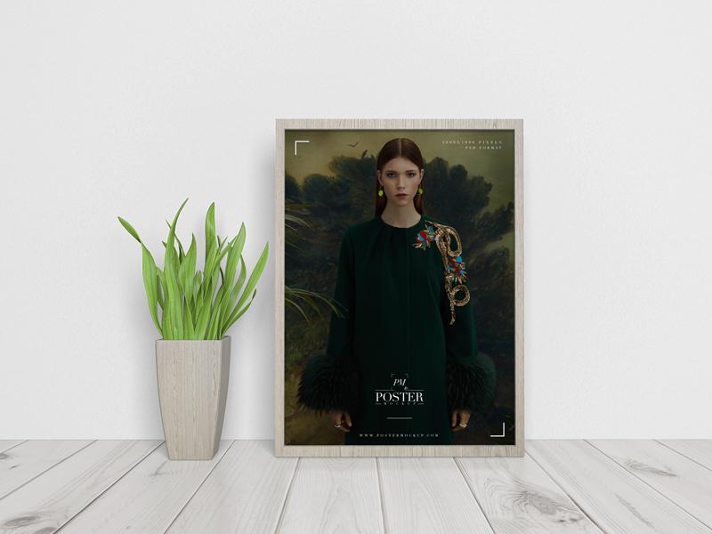 Elegant Interior Framed Poster Mockup