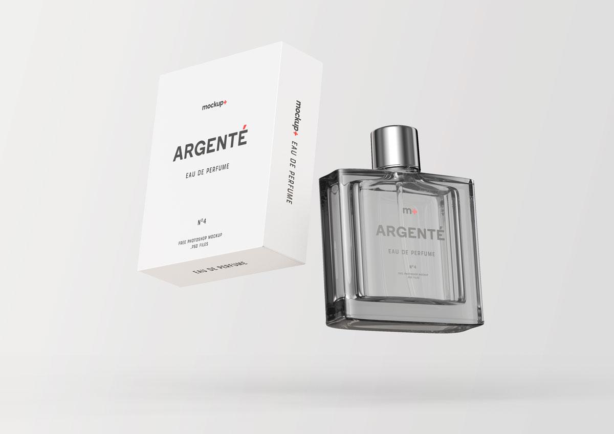 Floating Perfume Packaging Mockup